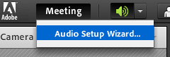 Adobe connect audio setup wizard
