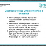 Questions when viewing a snapshot