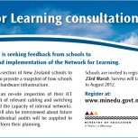 Network for Learning consultation