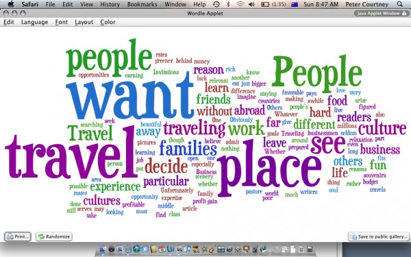 Why should people travel?