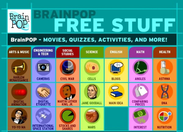 Brainpop freestuff