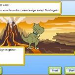My design: Talking dinosaur