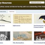 National Library primary sources resource screenshot