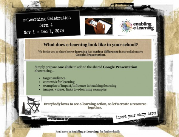 e-Learning celebration flyer