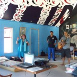 Claire and Pita Mahaki in the wharehui leading our learning