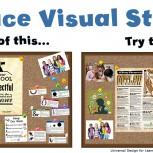 Reduce visual stimuli