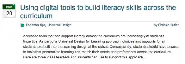 Using digital tools to build literacy skills across the curriculum