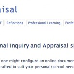 Screenshot of Appraisal and Inquiry Google site