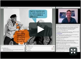 Screenshot of Learner agency webinar