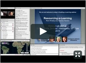 Screenshot of resourcing e-learning webinar