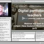 Digital portfolios webinar screenshot