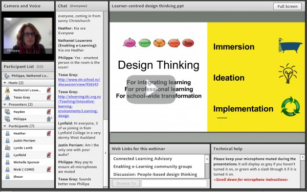 Design thinking webinar screenshot