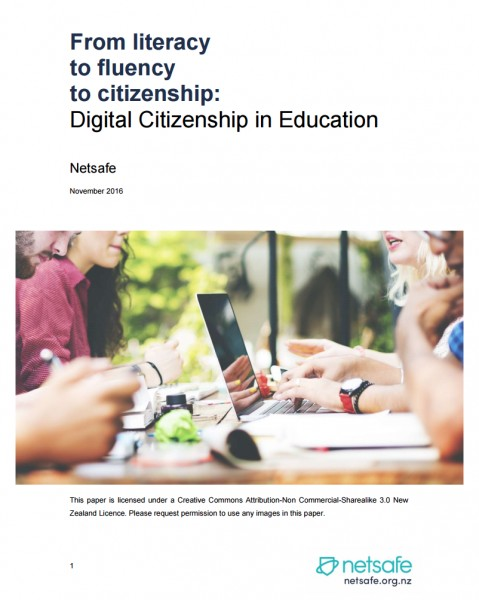Netsafe white paper on Digital Citizenship