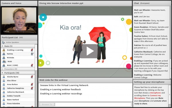 Screenshot of Seesaw webinar