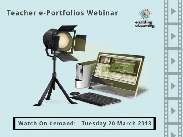 Spotlight on digital portfolios for teachers webinar