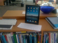 iPad in the library