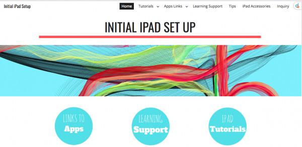 iPad Website Splash page