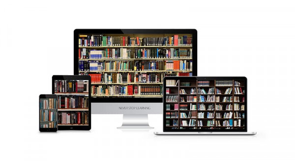 Digital book shelf