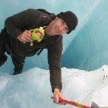 Chillin with Egbert on Franz Josef Glacier