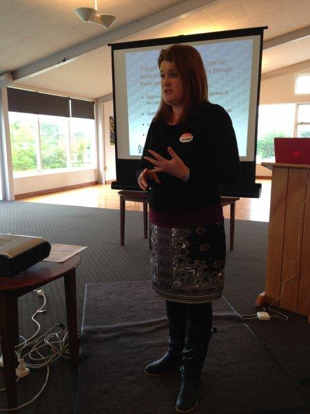 Vanessa Harold (Hutt Intermediate) talking about shared visioning and leadership