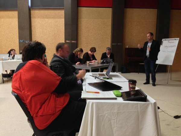 eLeaders day Queenstown | Engaged with Mark Osborne's presentation