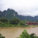 Weekend excursion in Vang Vieng - beautiful scenery